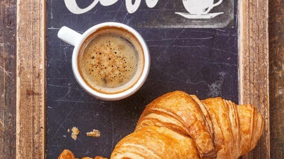 Croissant con crema al caffè
