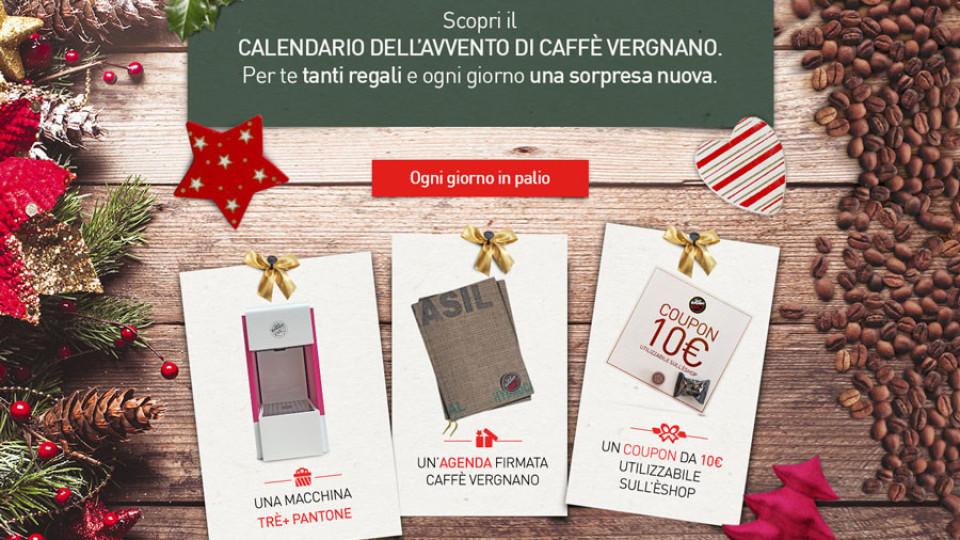 Vincere con il calendario dell'avvento di Caffè Vergnano