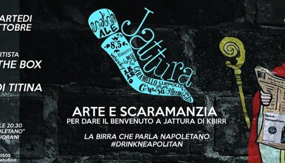 Arte e scaramanzia per dare il benvenuto a Jattura di KBirr,  la birra che parla napoletano  #drinkneapolitan