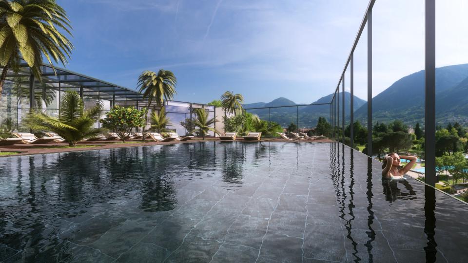 L'Hotel Terme Merano si prepara all'inaugurazione della Sky Spa e propone esclusive offerte.