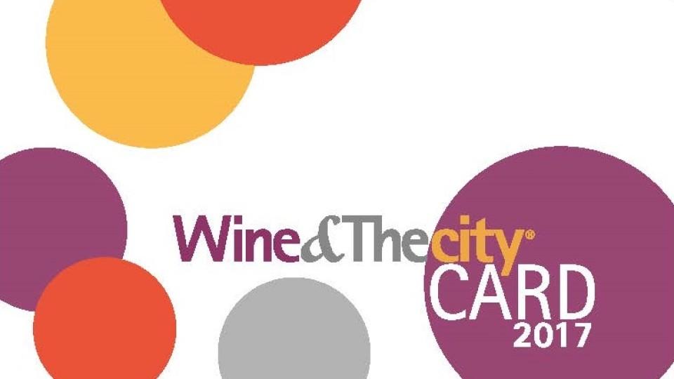 Wine&Thecity CARD 2017 per vivere la città in modo creativo durante tutto l'anno