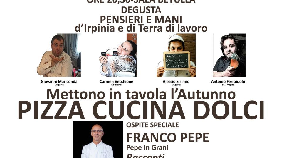 Il 24 ottobre da Degusta arrivano Pepe, Vecchione e Ferraiuolo